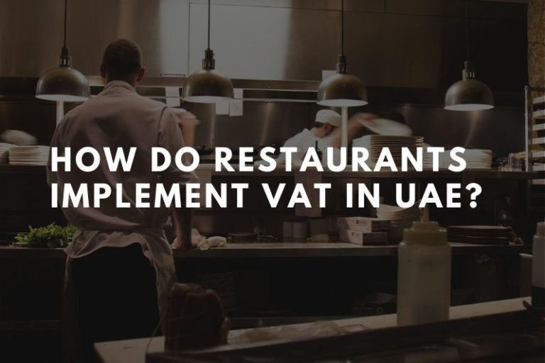VAT for restaurants in UAE