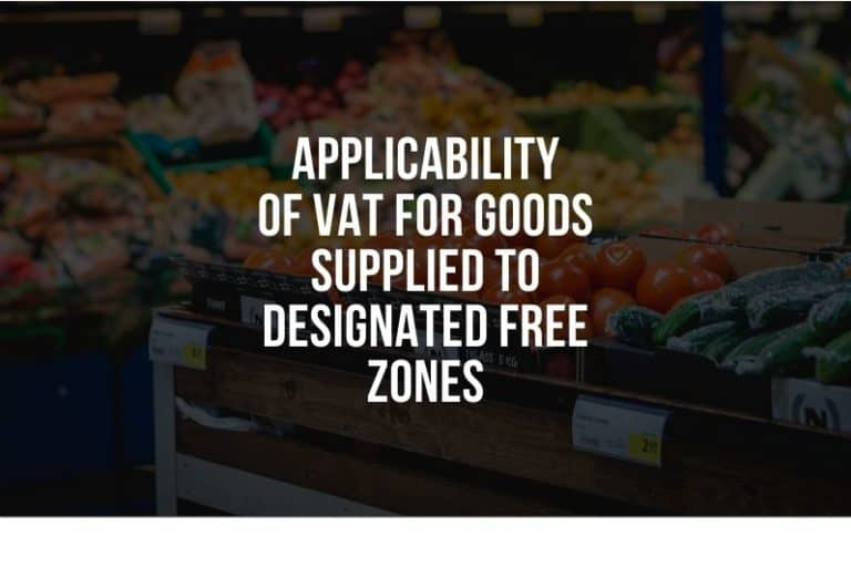 applicability of vat for goods and services