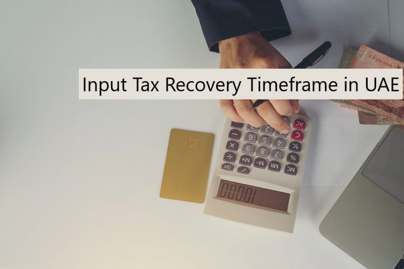 Input Tax Recovery